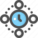 clock, global, hour, planet, time, world, zone icon