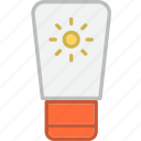 gel, lotion, sun icon