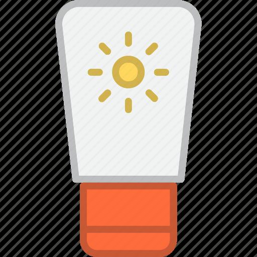 gel, lotion, sun icon