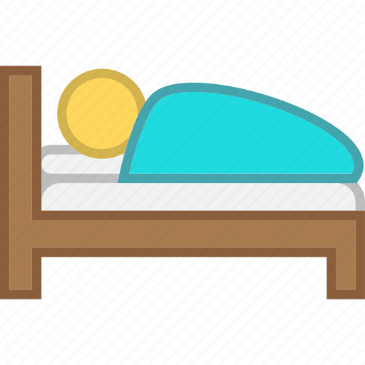 bed, bedroom, sleeping icon