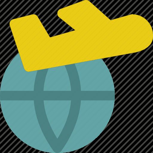 airplane, flight, travel, vacation, world icon