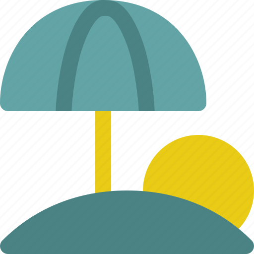 ball, beach, island, travel, umbrella icon