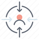 aim, focus, hunting, hunting point, target, targeting icon