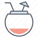 cocktail, coconut milk, coconut water, fresh coconut, refreshing drink, tropical drink icon