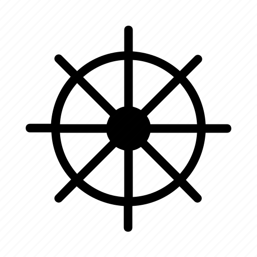 boat, cruise, ship, travel, wheel icon