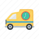 cargo, delivery, fast, truck, van icon
