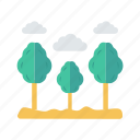 cloud, garden, nature, parks, tree icon