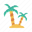 beach, green, nature, park, tree icon