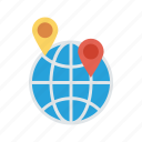 global, location, map, pin, wolrd icon
