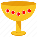 gold goblet, gold treasure, pure gold, solid gold, wine goblet icon