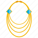 gold jewellery, gold necklace, precious jewellery, women accessory, women necklace icon