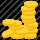 coin treasure, coins, coins stack, gold coins, rare coins icon
