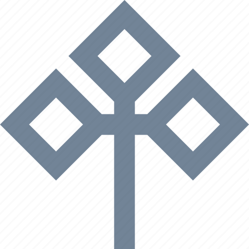 environmental, forest, leaf, square, style, three, tree icon