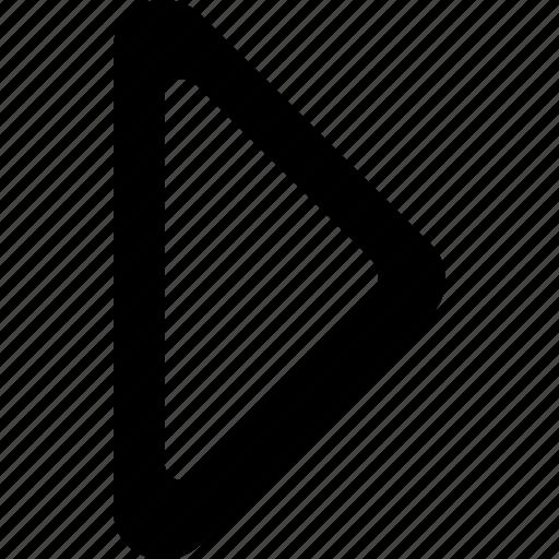 arrow, direction, empty, next, right, triangle icon
