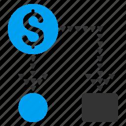 business report, cash flow, cashflow scheme, diagram, financial chart, flowchart, optimization icon