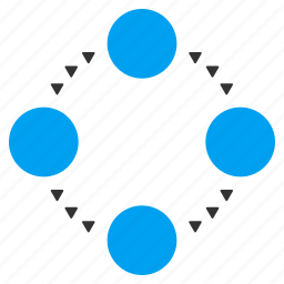circle, circular relations, connection, network, relation, ring, structure icon