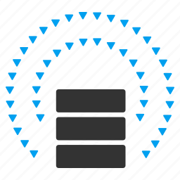 cloud, data base, database, protection, shield, sphere, storage icon