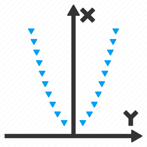 chart, dotted plot, draw, graph, parabole, parabolic function, square parabola icon