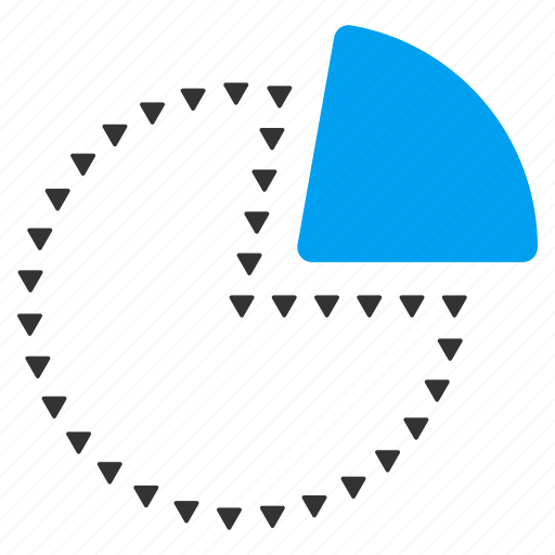 diagram, dotted, graph, parts, pie chart, report, statistics icon