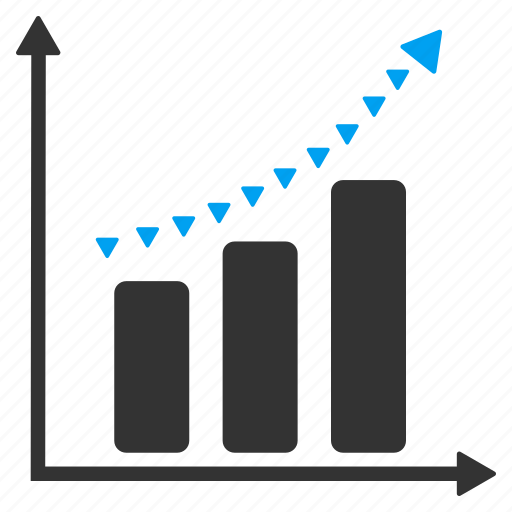 chart, dotted line, graph, positive, report, success, trend icon