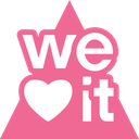 media, social, triangle, weheartit icon