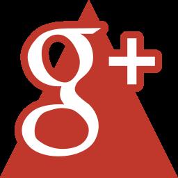 google, media, social, triangle icon