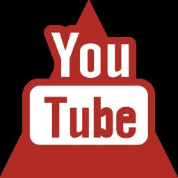 media, social, triangle, youtube icon