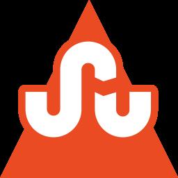 media, social, stumbleupon, triangle icon