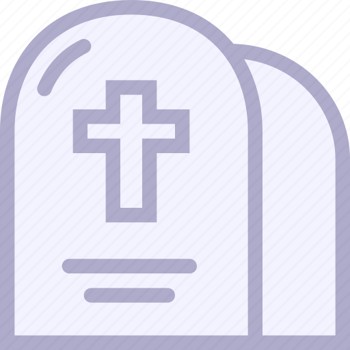 cemetery, cross, death, grave, halloween, headstone icon