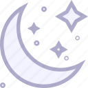 crescent, halloween, moon, night, star