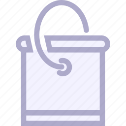 bank, bucket, container, pail, paint icon