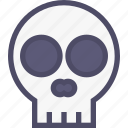 bone, death, halloween, skeleton, skull icon