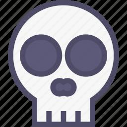 bone, death, halloween, skeleton, skull icon
