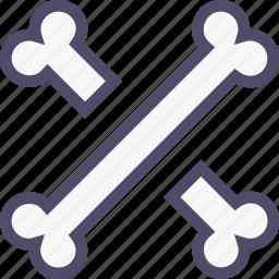 bone, cross, death, halloween, skeleton icon