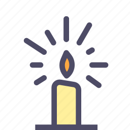 candle, fire, halloween, lamp, light icon