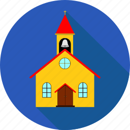 bell, building, christian, church, cross, religion icon