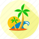 holidays, travel, holiday, vacation, palm tree icon
