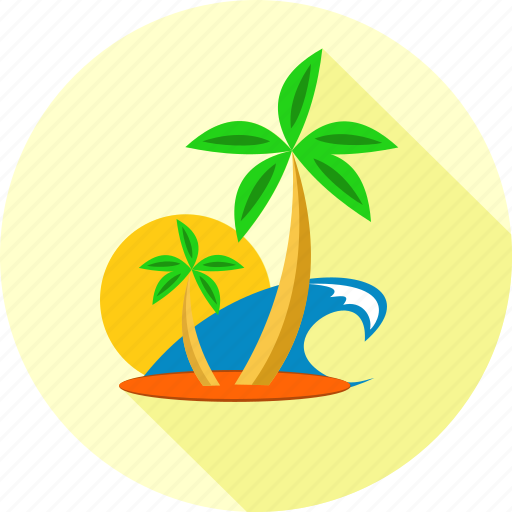 holiday, holidays, palm tree, travel, vacation icon