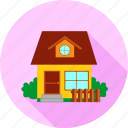 apartment, building, construction, estate, home, hotel, house icon