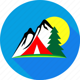 camp, ecology, forest, mountain vacation, nature, tent, vacation icon