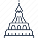 architecture, build, landmark, trip icon