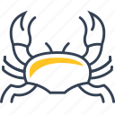 crab, fish, food, sea, trip icon