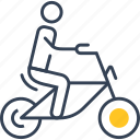 bike, cyclist, sport, trip icon
