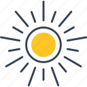 summer, sun, trip, weather icon