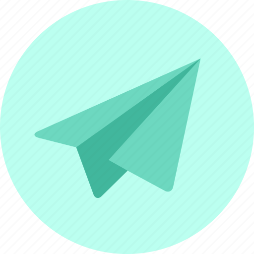 airplane, chat, mail, message, paper plane, plane, send icon
