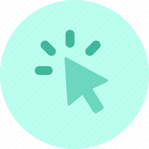 click, cursor, point, pointer, tap, target icon