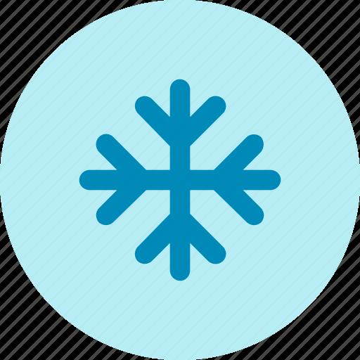 aircon, breeze, cold, snow, snowflakes, winter icon