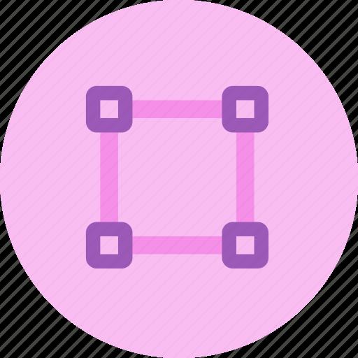 draw, edit, path, pen tool, resize, square icon