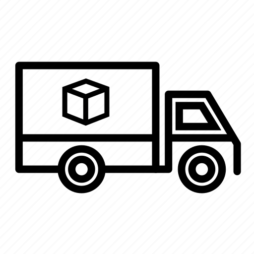delivery truck, package loading, shipping, transport, transportation, truck, truck loading package icon
