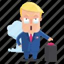 emoji, emoticon, explosive, man, sticker, trump, donald trump icon